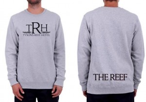 Grey Reef Crew Black Print